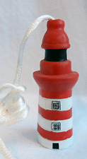 Lighthouse Light Cord Pull with Cord - Hand Painted Ceramic - BNIB
