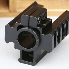 Rifle Tri Side Barrel Scope Laser Mount for 20mm Weaver Rail 12 Gauge Barrel Gun