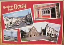 Irish Postcard GOREY Multiview Shops County Wexford Ireland John Hinde 2/778 4x6