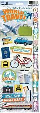 PAPER HOUSE WORLD TRAVEL VACATION TRIP JOURNEY CARDSTOCK SCRAPBOOK STICKERS
