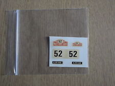 "Corgi Toys 321 Mini Monte Carlo ""52"" Decals/Transfers 2/2"