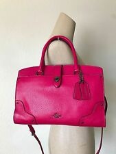 NWT Coach 37575 Cerise Pink Grain Leather Mercer 30 Satchel Carryall Bag Dustbag