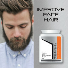 PRO-GROWTH MEN BEARD GROWTH PILLS FACIAL HAIR GROW THICK BUSHY BEARD FAST