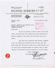 1937 Billhead Palmers Hebburn Co, Ship Engine & Boiler Repairers HEBBURN ON TYNE