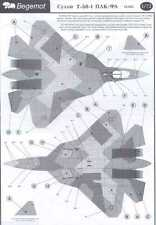 Begemot Decals 1/72 SUKHOI T-50 PAK-FA Russian Advanced Fighter
