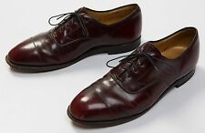 Men's Johnston And & Murphy Aristocraft Brown Leather Cap Toe Formal Shoes Sz 10