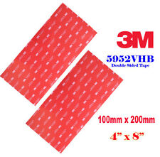 2 Sheet 3M 5952 100x200mm VHB Double Sided Foam Tape Adhesive Gopro Sony Mount