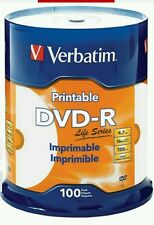 100-Verbatim  DVD Recordable InkJet Printable Media DVD-R 16x 4.70GB