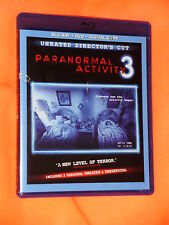 VG cond. Paranormal Activity 3 WIDESCREEN UNRATED Blu-ray DVD 2-Disc Set