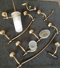 SERIE SET KIT ACCESSORI BAGNO EDERA OTTONE BRONZO INTRECCIATO MADE IN ITALY