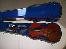 violin 3/4 with case and  unmarked bow