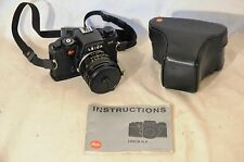 VINTAGE LEICA R4- 35MM FILM CAMERA WITH LEITZ 50MM f 2  LENS & CASE