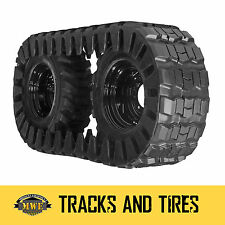 Bobcat CAT Skid Steer 12x16.5 Rubber OTT Over The Tire Tracks and 8 Lug Spacers
