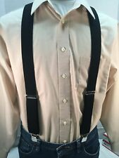 "New, Men's, Black, XL"", 48""  1.5"", Adj.  Suspenders / Braces, Made in the USA"