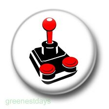 Retro Video Game Joystick 1 Inch / 25mm Pin Button Badge Joypad Computer Games