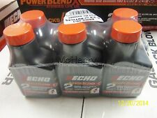 6 Pack Echo Oil 2.6 oz Bottles 2 Cycle Mix for 1 Gal – Power Blend [ECH][6450001
