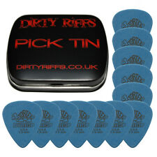 12 x Dunlop Tortex Standard 1.00mm Blue Guitar Picks In A Handy Pick Tin