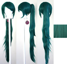 40'' Wavy Pony Tail Clip Viridian Green Cosplay Wig Clip Only NEW