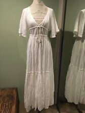 Brand New Free People Maxi Dress Size M Wedding Open Back White Tiered
