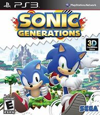 Sonic Generations  PlayStation 3 Game Brand New Sealed