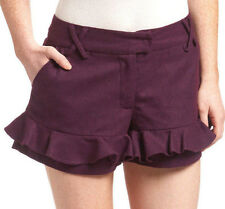 VioLET PuRPLE RuFFLE DREsS SHORTS SkoRT Wool PoLy M RYU @ ModCLoth Anthropologie