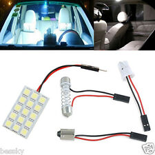 15 SMD 5050 T10 BA9S LED 12V White Light Car Interior Panel Lights Dome Lamp