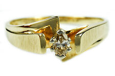 Women's .20 ct L/VS1 + GIA Spec Diamond Engagement Ring 14k Solid Yellow Gold