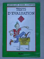 Tests d'évaluation CE1 - vers le CE2 - Français et Maths Bordas 1991 cahier exos