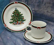 Xmas China Trio - Royal Five Stars - Feinsteinzeug by GPK. Cup,Saucer & Plate.