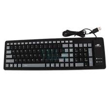 Hot USB 2.0 103 Keys Silicone Roll Up Foldable PC Computer Keyboard HK Ship