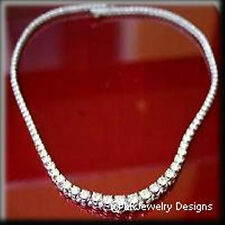 7.60 CT MOISSANITE ROUND FOREVER BRILLIANT FRENCH RIVIERA TENNIS NECKLACE