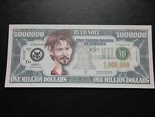 Johnny Depp $1 Million Dollar Note Novedad Bill $1,000,000 Piratas del Caribe