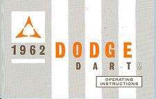 1962  62     DODGE DART OWNER'S MANUAL