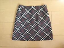 Burberry London BLUE LABEL Wool Nova Check Authentic Mini Skirt (pa9)