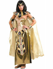 Adult Ladies Gold Ancient Egyptian Queen Cleopatra Outfit Fancy Dress Costume