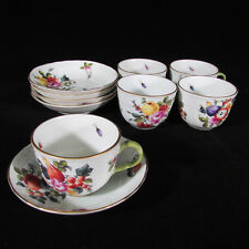 10pc Set of Herend Porcelain Demitasse Cups & Saucers Fruit & Flowers BFR/1728