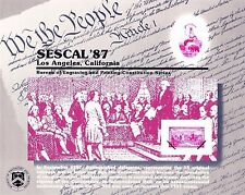 BEP Souvenir Card B110 SESCAL '87 Signing of U.S. Constitution Mint