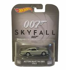 HOTWHEELS RETRO 2016 SKYFALL AUSTIN MARTIN DB5 ALLOY WHEELS & RIDER RUBBER TYRES