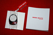 Miss Sixty Stainless Steel Ring Two Tone Italy NIB Certificate Free Shipping