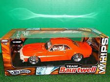Hot Wheels 1968 Chevy Camaro WHIPS Team Baurtwell 1:18 Scale Diecast '68 Car