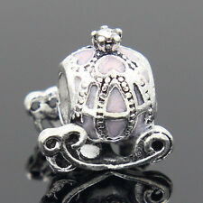 New European Silver Charm Bead Fit sterling 925 Necklace Bracelet Chain US vws1q