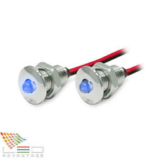 2 X 12V BLUE LED COURTESY ACCENT COMPACT MINI PILOT LIGHTS - BOAT/CARAVAN/YACHT