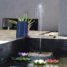 Outdoor Garden 9V 1.8W Solar Powere Quick Start Water Pump Fountain Pond Lights