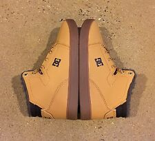 DC Crisis High WNT Youth Size 1 US Wheat DK Chocolate BMX Skate Shoes Sneakers