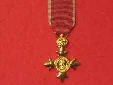 Miniature Order of the British Empire OBE Medal with Civil ribbon BRAND NEW