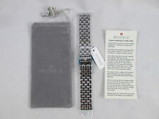 Michele 18 mm 5 Link Silver Watch Band Bracelet MS18FW235009 CSX Jetway Deco