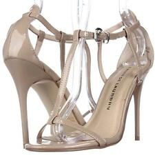 Chinese Laundry Leo T-Strap Dress Sandals - Nude, 7.5 M US / 38 EU USED