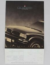 Oldsmobile 1996 Bravada Special Preview Mail Away Sheet Sales Literature