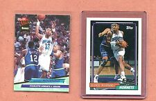 ALONZO MOURNING HORNETS 1992-1993 TOPPS & ULTRA ROOKIE BASKETBALL CARD LOT