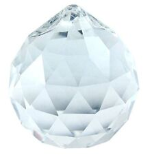 Lot Of 2 Pcs 50mm Clear Asfour Crystal Hanging Faceted Ball Prism